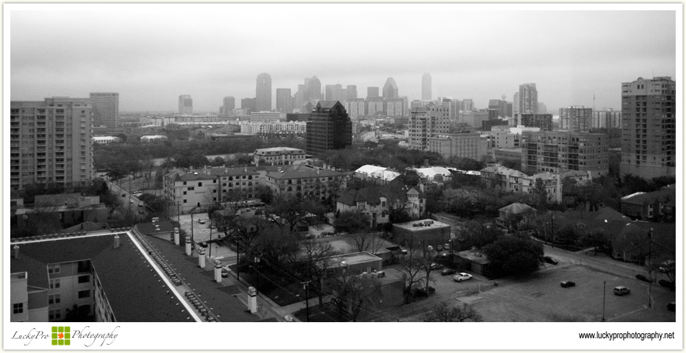 Dallas Skyline on an Overcast Day
