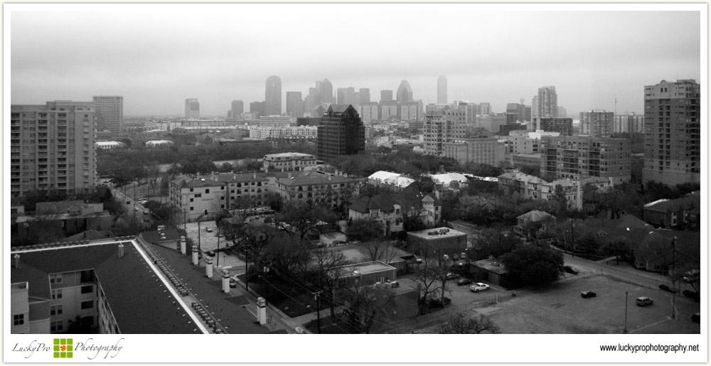 Dallas Skyline on an Overcast Day