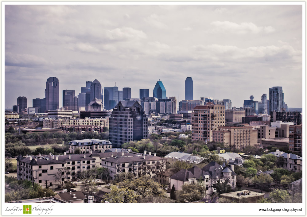 Dallas Skyline on a Cloudy Day